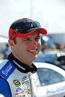 Oct 4, 2008; Talladega, AL, USA; NASCAR Sprint Cup Series driver Travis Kvapil during qualifying for the Amp Energy 500 at the Talladega Superspeedway. Mandatory Credit: Mark J. Rebilas-