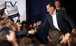 Republican presidential candidate Mitt Romney greets supporters at a campaign stop in Reno, Nev., on Thursday, Feb. 2, 2012..Photo by Cathleen Allison