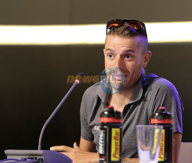 Damiano Caruso (ITA) BMC Racing Team press conference before the start of the 2015 Tour de France in Utrecht, Netherlands. 3rd July 2015.<br /> Photo: Eoin Clarke www.newsfile.ie