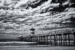 Huntington Beach pier.  Taken with infrared camera.