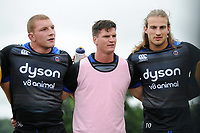 Freddie Burns of Bath Rugby looks on in a huddle. Bath Rugby pre-season training session on July 28, 2017 at Farleigh House in Bath, England. Photo by: Patrick Khachfe / Onside Images