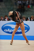 Anna Bessonova of Ukraine performs with rope during seniors All-Around competition at 2008 European Championships at Torino, Italy on June 6, 2008.  Photo by Tom Theobald.