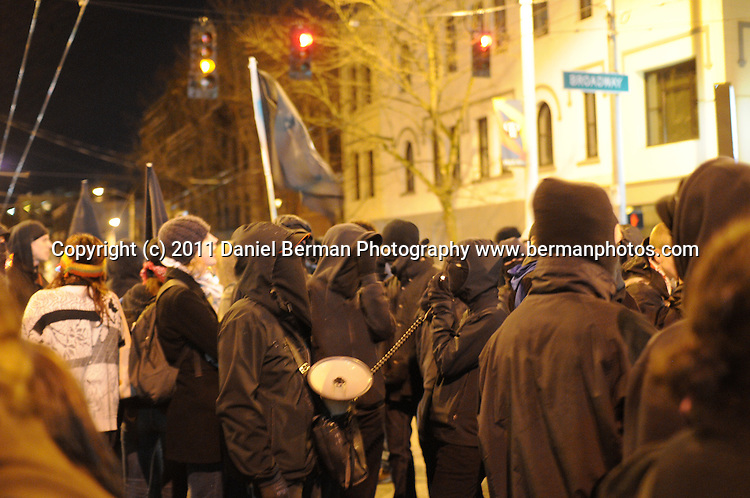 Protests against Seattle Police Department (SPD) Friday, Feb. 18 in the Capitol Hill neighborhood. Photo by Seattle Bellingham photographer Daniel Berman/www.bermanphotos.com.