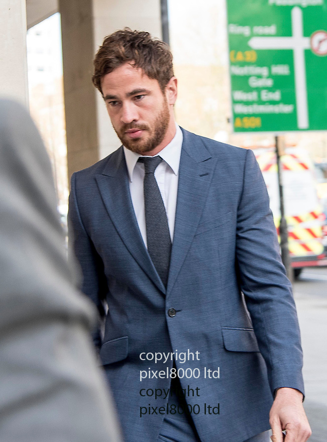 Pic shows: Danny Cipriano arrives at Westminster Magistrates Court today for his trial for drink driving.<br /> <br /> <br /> <br /> Pic by Gavin Rodgers/Pixel 8000 Ltd <br /> Tuesday 19.4.16