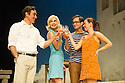 London, UK. 31.05.2016. SUNSET AT THE VILLA THALIA, by Alexei Kaye Campbell, opens at the Dorfman, at the National Theatre. Directed by Simon Godwin. Picture shows: Ben Miles (Harvey), Elizabeth McGovern (June), Sam Crane (Theo), Pippa Nixon (Charlotte). Photograph © Jane Hobson.
