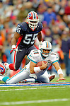 9 October 2005: Gus Frerotte, quarterback for the Miami Dolphins, keeps the ball to rush for first down yardage against the Buffalo Bills at Ralph Wilson Stadium, in Orchard Park, NY. The Bills defeated the division rival Dolphins 20-14. ..Mandatory Photo Credit: Ed Wolfstein