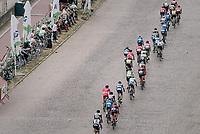 Peloton enduring the Antwerp cobbles<br /> <br /> 2017 National Championships Belgium - Elite Men - Road Race (NC)<br /> 1 Day Race: Antwerpen &gt; Antwerpen (233km)