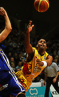 Brian Wethers loses the ball during game two of the NBL Final basketball match between the Wellington Saints and Waikato Pistons at TSB Bank Arena, Wellington, New Zealand on Friday 20 June 2008. Photo: Dave Lintott / lintottphoto.co.nz