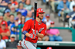 6 March 2012: Washington Nationals outfielder Bryce Harper in action during a Spring Training game against the Atlanta Braves at Champion Park in Disney's Wide World of Sports Complex, Orlando, Florida. The Nationals defeated the Braves 5-2 in Grapefruit League action. Mandatory Credit: Ed Wolfstein Photo