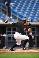 Quad Cities River Bandits outfielder Bobby Boyd (2) at bat during the first game of a doubleheader against the Wisconsin Timber Rattlers on August 19, 2015 at Modern Woodmen Park in Davenport, Iowa.  Quad Cities defeated Wisconsin 3-2.  (Mike Janes/Four Seam Images)