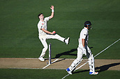 25th March 2018, Auckland, New Zealand;  Chris Woakes bowling.<br /> New Zealand versus England. 1st day-night test match. Eden Park, Auckland, New Zealand. Day 4