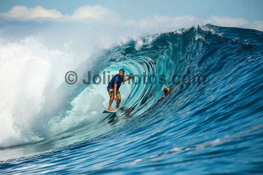 Namotu Island Resort, Nadi, Fiji (Thursday, June 16 2016):  Anthony Walsh (AUS) - The Fiji Pro, stop No. 5 of 11 on the 2016 WSL Championship Tour, was recommenced today at Cloudbreak with a consistent SSW swell in the 6'-8' range. <br /> Rounds 4 and 5 were completed in perfect conditions with a number of rides in the excellent range including two perfect 10 point rides form Gabriel Medina (BRA) and Kelly Slater (USA).<br /> The contest will wrap up tomorrow in what is shaping up as another perfect surf day.<br /> Photo: joliphotos.com