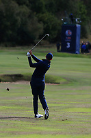 Matt Fitzpatrick (ENG) on the 3rd fairway during Round 2 of the Sky Sports British Masters at Walton Heath Golf Club in Tadworth, Surrey, England on Friday 12th Oct 2018.<br /> Picture:  Thos Caffrey | Golffile<br /> <br /> All photo usage must carry mandatory copyright credit (&copy; Golffile | Thos Caffrey)