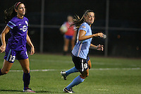 Piscataway, NJ - Wednesday Sept. 07, 2016: Alex Morgan, Erica Skroski during a regular season National Women's Soccer League (NWSL) match between Sky Blue FC and the Orlando Pride FC at Yurcak Field.