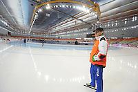 SPEEDSKATING: SOCHI: Adler Arena, 21-03-2013, Training, Jillert Anema (trainer/coach BAM), © Martin de Jong