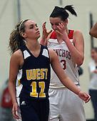 Lapeer West at Holly, Girls Varsity Basketball, 2/17/12