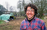 George Monbiot at Reclaim the land . St George's Hill and Wisley Airfield. 1995