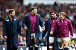 L-R England's Danny Cipriani, Nick Easter, Mako Vunipola, and Tom Youngs - RBS 6 Nations - England vs Italy - Twickenham Stadium - London - 14/02/2015 - Pic Charlie Forgham-Bailey/Sportimage
