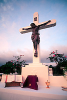 crucifix at a cemetery