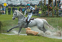 Andrew Hoy (AUS) riding THE BLUE FRONTIER    during the Mitsubishi Motors Badminton Horse Trials 2017 Badminton Glos. UK on 6th May 2017.
