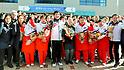 North Korean women's ice hockey team arrives in South Korea