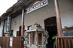 Furniture shop  Dutch colonial architecture details historic town of Galle, Sri Lanka, Asia