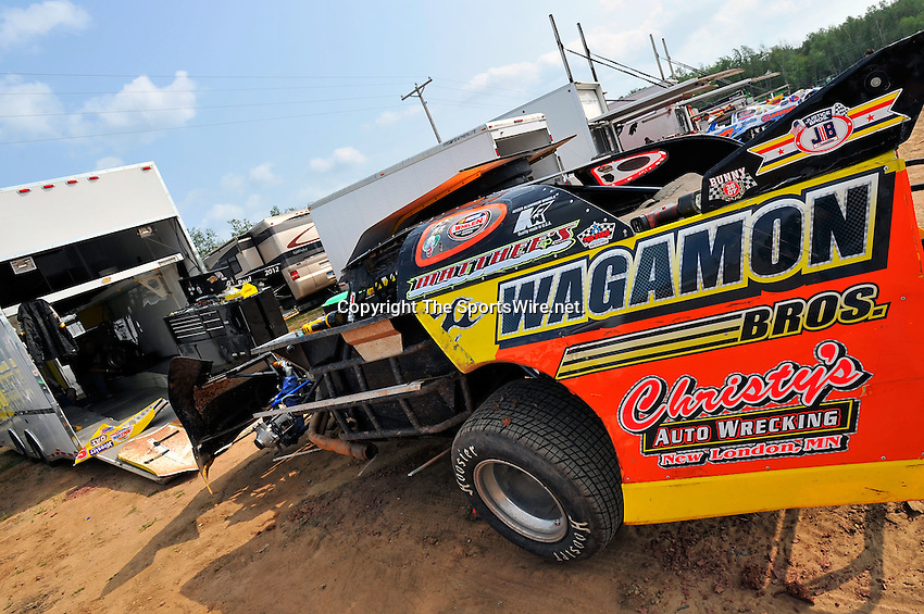 Aug 5, 2010; 3:33:08 PM; New Richmond, WI., USA; The 23rd Annual USA Nationals presented by U.S. Steel Corporation running a 50,000-to-win World of Outlaws Dirt Late Model Series sanctioned event at Cedar Lake Speedway.  Mandatory Credit: (thesportswire.net)