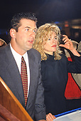 Actor Alec Baldwin and his wife, actress Kim Basinger, at the National Press Club in Washington, DC on January 19, 1993.<br /> Credit: Ron Sachs / CNP