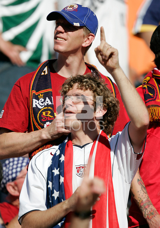 USA fans at Rice-Eccles Stadium, in Salt Lake City, UT, Saturday, June 4, 2005. USA won 3-0.