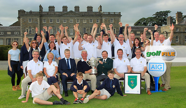 Castle Golf Club win the AIG Junior Cup at Carton House Golf Club over the AIG Cups &amp; Shields All Ireland Finals weekend on Thursday 15/09/16.<br />