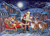 Interlitho, CHRISTMAS SANTA, SNOWMAN, WEIHNACHTSMÄNNER, SCHNEEMÄNNER, PAPÁ NOEL, MUÑECOS DE NIEVE, paintings+++++,santa roof top,KL6077,#X# ,Simonetta