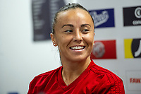 Natasha Harding of Wales Women during the Wales Women Press Conference and Training Session at the Cardiff International Sports Stadium in Cardiff, Wales, UK. Monday 03 June 2019