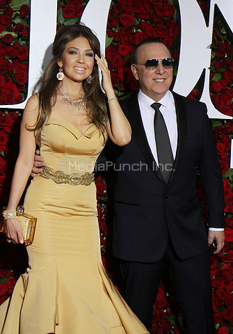 NEW YORK, NY-June 12:  Thalia, Tommy Mottola, at the 70th Annual Tony Awards at the Beacon Theatre in New York. NY June 12, 2016. Credit:RW/MediaPunch
