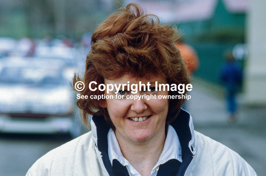 Anne O'Connell, Cork, Rep of Ireland, rally driver, 19850406AOC..Copyright Image from Victor Patterson, 54 Dorchester Park, Belfast, UK, BT9 6RJ..Tel: +44 28 9066 1296.Mob: +44 7802 353836.Voicemail +44 20 8816 7153.Skype: victorpattersonbelfast.Email: victorpatterson@mac.com.Email: victorpatterson@ireland.com (back-up)..IMPORTANT: If you wish to use this image or any other of my images please go to www.victorpatterson.com and click on the Terms & Conditions. Then contact me by email or phone with the reference number(s) of the image(s) concerned.