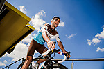 Tony Gallopin (FRA) AG2R La Mondiale at sign on before Stage 9 of the 2019 Tour de France running 170.5km from Saint-Etienne to Brioude, France. 14th July 2019.<br /> Picture: ASO/Pauline Ballet | Cyclefile<br /> All photos usage must carry mandatory copyright credit (© Cyclefile | ASO/Pauline Ballet)