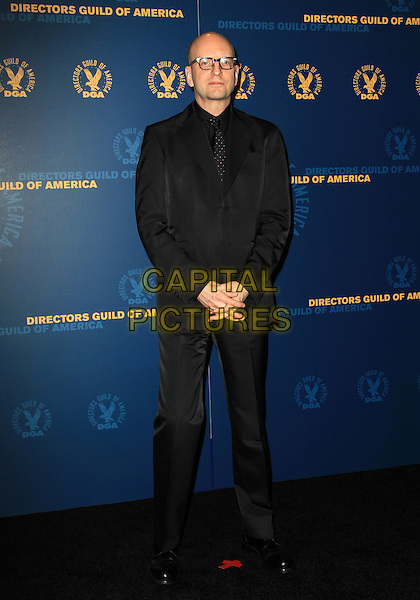 Steven Soderbergh.65th Annual Directors Guild Of America Awards - Press Room Held At The Ray Dolby Ballroom at Hollywood & Highland Center, Hollywood, California, USA..February 2nd, 2013.full length black suit glasses .CAP/ADM/KB.©Kevan Brooks/AdMedia/Capital Pictures.