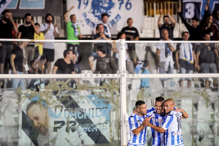 Verre Valerio (PESCARA) after the first goal during the Italian Cup - TIM CUP -match between Pescara vs Frosinone, on August 13, 2016. Photo: Adamo Di Loreto/BuenaVista*photo