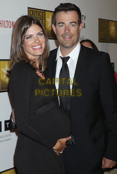 Carson Daly, Siri Pinter.The 2nd Annual Critics' Choice Television Awards held at The Beverly Hilton in Beverly Hills, California, USA..June 18th, 2012.half length black dress pregnant suit couple side .CAP/ADM/RE.©Russ Elliot/AdMedia/Capital Pictures.