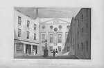 Apothecaries Hall, Pilgrim Street, engraving from 'Metropolitan Improvements, or London in the Nineteenth Century' England, UK 1828