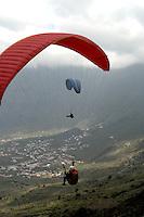 Hang gliding, El Hierro,Canary Islands, Spain.