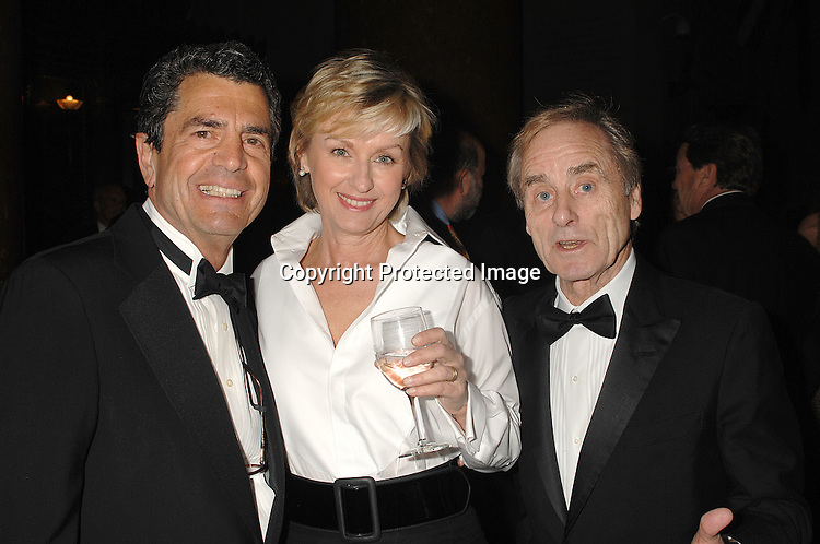 Jack Romanos, Tina Brwon and Harry Evans..at The Pen American Center's Literary Gala on April 30, 2007 at The American Museum of Natural History in New York City.