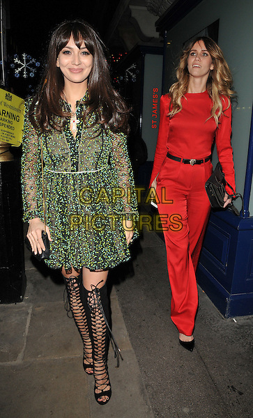 Zara Martin &amp; Whinnie Wiliams ( Jade Williams ) attend the Sunday Times Style magazine Christmas party, Tramp nightclub, Jermyn Street, London, UK, on Wednesday 09 December 2015.<br /> CAP/CAN<br /> &copy;CAN/Capital Pictures
