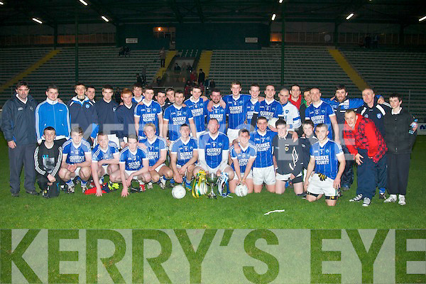 Kerin's O'Rahilly's GAA celebrate their win over John Mitchell's at Austin Stack Pk, Tralee last Friday night.