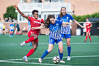 Boston, MA - Saturday July 01, 2017: Francisca Ordega and Allysha Chapman during a regular season National Women's Soccer League (NWSL) match between the Boston Breakers and the Washington Spirit at Jordan Field.