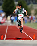 Joshua Foote, of Fallon, competes in the long jump event the Special Olympics Nevada 2013 Summer Games in Reno, Nev., on Saturday, June 1, 2013. <br /> Photo by Cathleen Allison
