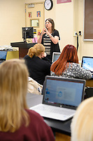 Dr. Amanda Kohler, teaches quality control to vet technology students.
