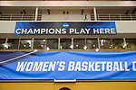 GRAND RAPIDS, MI - MARCH 18: NCAA banners hangs during the Division III Women's Basketball Championship logo is on display at Van Noord Arena on March 18, 2017 in Grand Rapids, Michigan. Amherst defeated 52-29 for the national title. (Photo by Brady Kenniston/NCAA Photos via Getty Images)