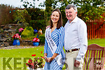 Sally-Ann Leahy from Causeway the Kerry Rose pictured with her dad Tim, brother Kevin.