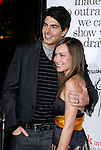 """HOLLYWOOD, CA. - October 20: Actor Brandon Routh and wife Courtney Ford arrive at the Los Angeles Premiere of """"Zack And Miri Make A Porno"""" at the Grauman's Chinese Theater on October 20, 2008 in Hollywood, California."""