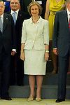 12.07.2012. King Juan Carlos I of Spain and Queen Sofia of Spain attend  to the Board of Trustees Spanish Committee of the United World Colleges, Sponsors Scholarship and scholarship students, at the Royal Palace of La Zarzuela. In the image Queen Sofia  (Alterphotos/Marta Gonzalez)